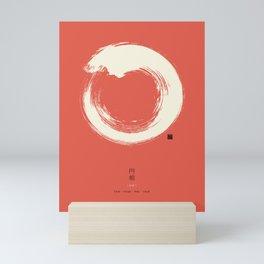Red Enso / Japanese Zen Circle Mini Art Print