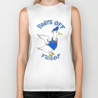 donald duck Biker Tanks featuring Pants Off Friday - Donald Duck by Bianca McKay
