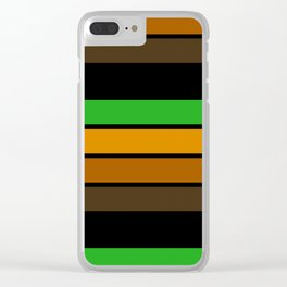 Striped pattern 11 Clear iPhone Case