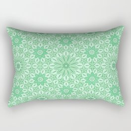 Rings of Flowers - Color: Mint Julep Rectangular Pillow
