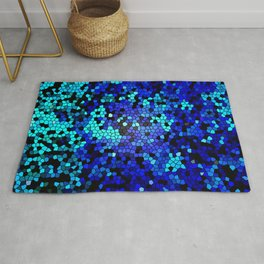 STAINED GLASS BLUES Rug
