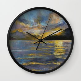 New Zealand Sunset Wall Clock