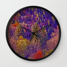 Fall and wood colors Wall Clock