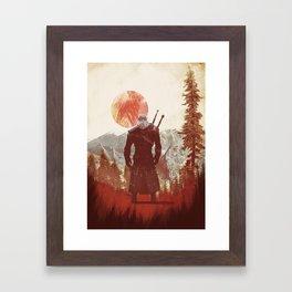 The Witcher Geralt variation print Framed Art Print