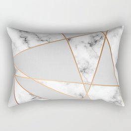 Copper smokey marble geo Rectangular Pillow