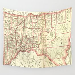 Vintage Map of Minnesota (1893) Wall Tapestry