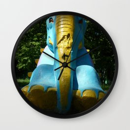 Stone elephant. Wall Clock
