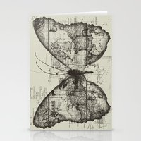 backpack Stationery Cards featuring Butterfly Effect by Tobe Fonseca