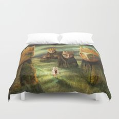 In the Company of Kings Duvet Cover