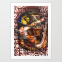 lantern Art Prints featuring Lantern by John Hansen