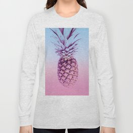 Light Blue and Pink Pineapple Long Sleeve T-shirt