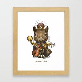 King of Squirrels Framed Art Print