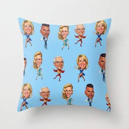 Strictly Come Dancing with Johnny, Jerry, Fern &Peter Throw Pillow
