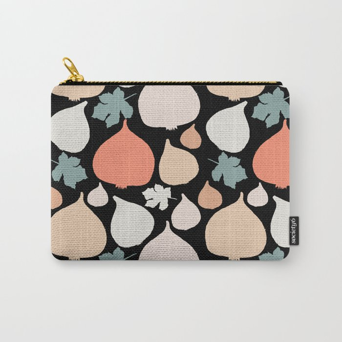 Figs with black background pattern Carry-All Pouch