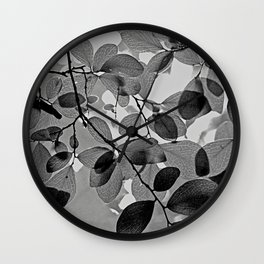 Sunlit Leaves Wall Clock