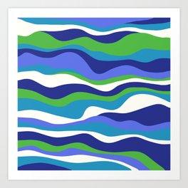 Cordillera Stripe: Purple and Green Combo Art Print