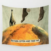 return Wall Tapestries featuring return often and take me by cardboardcities