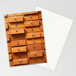 Wooden cabinet with drawers Stationery Cards