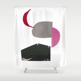 minimalist collage 01 Shower Curtain