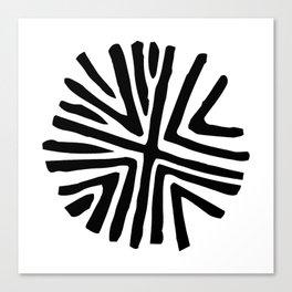 Taino star design for bohemian decor Canvas Print
