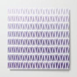 Tee Pee Gradient Ultra Violet Metal Print