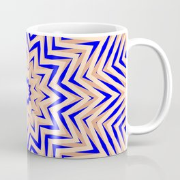 Psychedelic Pink and Blue Mandala Coffee Mug