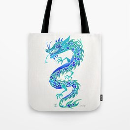 Chinese Dragon – Blue Palette Tote Bag