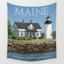Prospect Harbor Lighthouse Wall Tapestry