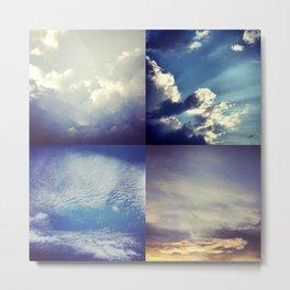 Patchy Sky Metal Print