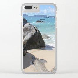 Scenic Beach at The Baths on Virgin Gorda, BVI Clear iPhone Case