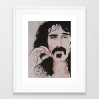 zappa Framed Art Prints featuring Frank zappa by Russell Lake