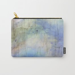 Watercolored Love Scene - Heartbeat Blues Carry-All Pouch