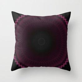 Dark Burgundy Dusk Mandala Throw Pillow