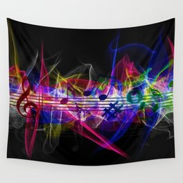 Colorful musical notes and scales artwork Wall Tapestry