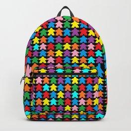 Multicolored Meeples by Blackburn Ink Backpack