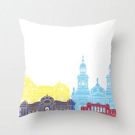 Santiago de Chile V2 skyline pop Throw Pillow