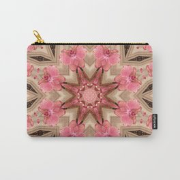 Wild Orchid print Carry-All Pouch