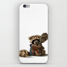 Rocket and Groot iPhone Skin