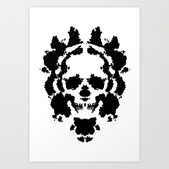 rorschach test art print by tomaszbilak society6 Blank Skeleton rorschach test art print