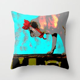 Bow Down to the Pug Throw Pillow