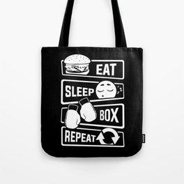 Eat Sleep Box Repeat - Boxing Boxer Uppercut Jab Tote Bag