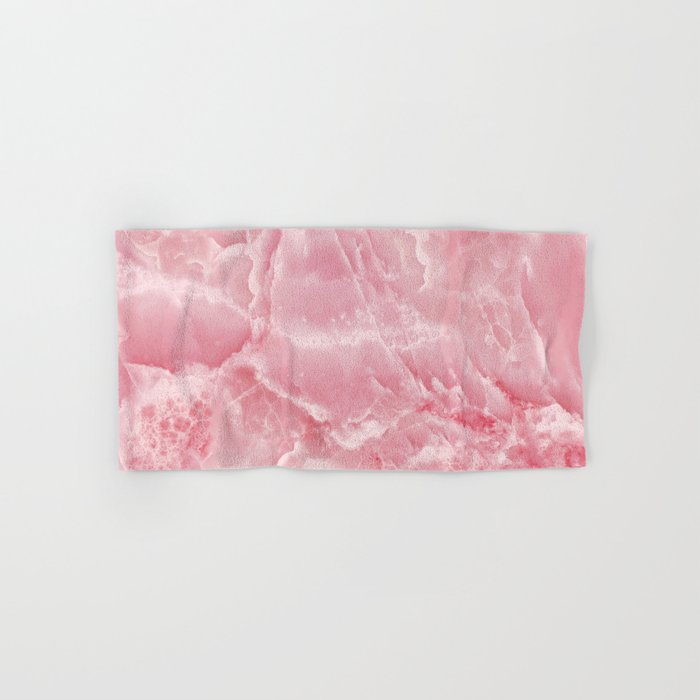 Pink onyx marble Hand & Bath Towel