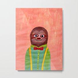 Mister Sloth 1 Metal Print