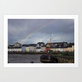 Galway Rainbow Art Print