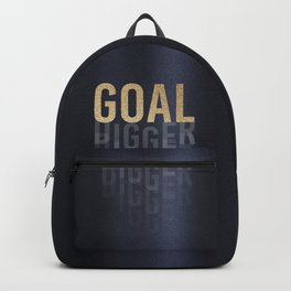 Goal Digger - Gold on Black Backpack