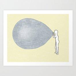 Universe-ballon Art Print