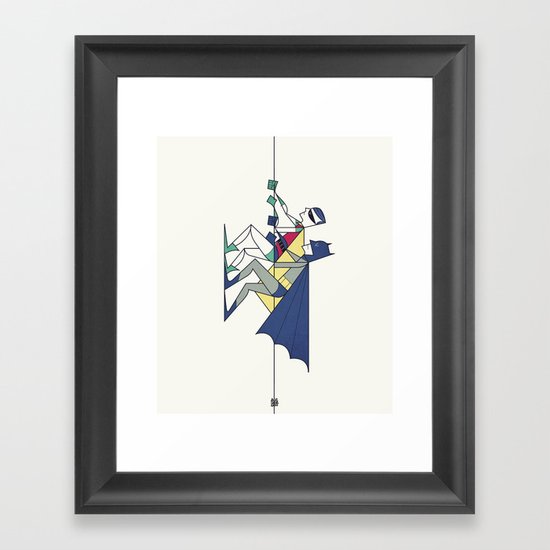 The POW! of love Framed Art Print