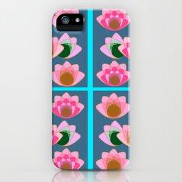 Pink lotus field iPhone Case