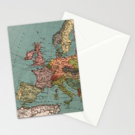 Vintage Map of Europe (1921) Stationery Cards