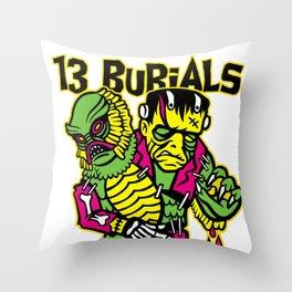 13 Burials - Franken creature Throw Pillow